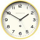 Newgate Clocks Echo Number Three Wall Clock Yellow