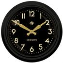 Newgate Clocks The Electric Wall Clock Black