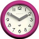Pantry NEWGATE CLOCKS Retro Wall Clock in Hot Pink