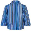 Page BRIGHT & BEAUTIFUL Retro Striped Short Jacket