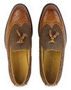 Nauvarro PAOLO VANDINI Mod Tweed Leather Loafers