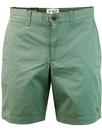 original penguin retro 60s chino shorts duck egg