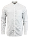 penguin collarless shirt bright white  mod