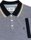 ORIGINAL PENGUIN Mod Rainbow Tipped Birdseye Polo