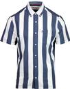 ORIGINAL PENGUIN Knitted Vertical Stripe Mod Shirt