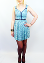 PEPE JEANS GALLIE RETRO MOD INDIE 60S DRESS BLUE