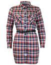 Julia PEPE JEANS Retro Western Check Shirt Dress