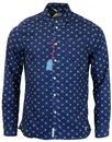 Kappor PEPE JEANS Retro Indigo Wash Floral Shirt