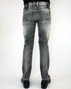 Hatch PEPE Retro Vintage Wash Slim Indie Jeans (B)