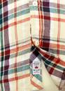 Monte Rosa Pepe Retro Mod Flannel Check Shirt (O)