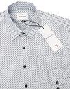 Henshall PETER WERTH 60s Mod Polka Dot Shirt BLUE