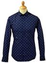 Fenton PETER WERTH Retro Mod Fleur-De-Lis Shirt N
