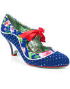 poetic licence schools out floral polka dot heels