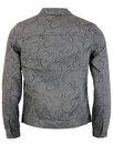 Beaufort PRETTY GREEN Floral Linear Denim Jacket