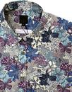 Mauvey PRETTY GREEN Mod Liberty Floral Shirt