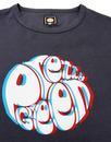 PRETTY GREEN Retro 3D Signature Logo Tee - Black
