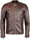 pretty green Addison leather biker jacket burgundy