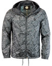 pretty green ashworth paisley hooded jacket black