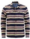 pretty green audio stripe retro 60s mod overshirt