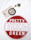 PRETTY GREEN Retro Mod Vintage Badge Print Tee