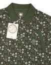 Balfour PRETTY GREEN Retro Floral Pique Polo Shirt