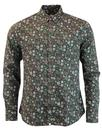 pretty green balfour shirt dark green mod