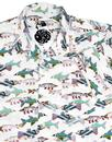 PRETTY GREEN x THE BEATLES 60s Fish Hawaiian Shirt