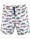 pretty green beatles submarine fish swim shorts