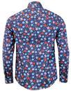 PRETTY GREEN x THE BEATLES Shears Mod Floral Shirt