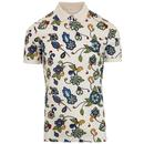 pretty green beatles prudence 60s mod floral polo