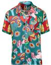 PRETTY GREEN x THE BEATLES Yellow Sub Floral Shirt