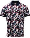 Beaufort PRETTY GREEN Mod Paisley Pique Polo Shirt