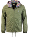 pretty green beckford paisley hooded jacket tkhaki