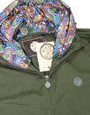 Beckford PRETTY GREEN Retro Hooded Jacket KHAKI