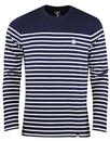 pretty green bretton stripe tee navy mod