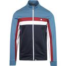 pretty green contrast panel track top jacket blue