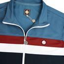 PRETTY GREEN Retro Contrast Panel Track Jacket BL