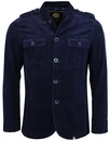 pretty green crawley jacket cord navy mod