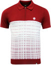 pretty green croston mod jacquard knit polo red