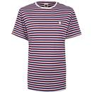 PRETTY GREEN Retro Feeder Stripe Crew Neck Tee BL