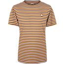 pretty green feeder stripe logo tee brown
