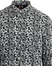 PRETTY GREEN Retro 60's Floral Print Shirt - Green