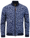 pretty green forrester paisley bomber jacket navy