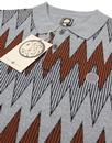 Drifter PRETTY GREEN 60s Mod Radio Wave Knit Polo