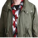 PRETTY GREEN Sixties Mod Zip Through Parka Jacket