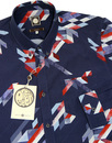 Kirby PRETTY GREEN Mod Abstract Button Down Shirt