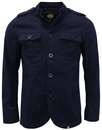 pretty green langford jacket navy mod