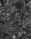 Lescott PRETTY GREEN 60s Mod Paisley Shirt - Black