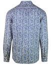 PRETTY GREEN Retro Liberty Floral Print Shirt Blue