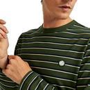 PRETTY GREEN Retro Stripe Long Sleeve T-Shirt G
